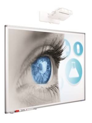 Smit 11103.999 Projectionboard Softline profile 8mm, enamel mattwhite (80 inch) 1723mm x 1077mm