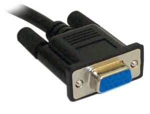 2m VGA monitor ext. cable HD15M -HD15F (26-0020MF) *double shielded, coaxial, fully wired*
