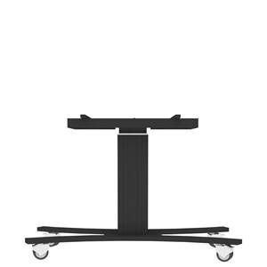 "Mobile trolley with electric height and TILT adjustment for 55""-65"" displays, C-base, all black"